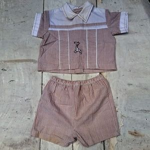 Other - Brown and White Striped Giraffe Outfit Set